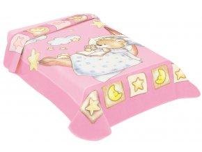 Španělská deka 621 - růžová, 80 x 110 cm