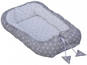 Hnízdo pro miminko Scarlett Hvězdička - šedá