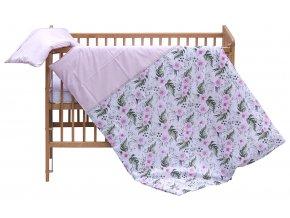 Dětské povlečení 2dílné Scarlett Růžička - růžová 100 x 135 cm