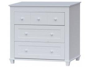 Přebalovací komoda Scarlett GELA - bílá, 93 x 100 x 51 cm