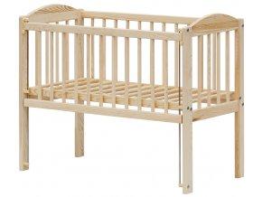Dětská postýlka k posteli rodičů BABY Scarlett ECO (borovice), st. bok - 90 x 41 cm