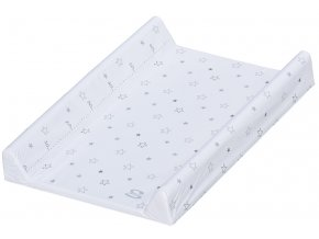 Přebalovací podložka měkká Scarlett Hvězdička 70 x 50 cm - bílá