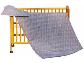Dětské povlečení 2dílné - Scarlett Puntík - hněďá 100 x 135 cm