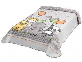 Španělská deka 636 - šedá, 80 x 110 cm