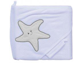 Froté ručník - Scarlett hvězda s kapucí - bílá