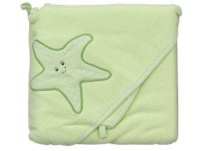Froté ručník - Scarlett hvězda s kapucí - zelená