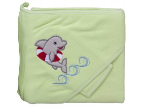 Froté ručník - Scarlett delfín s kapucí - zelená