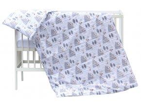 Dětské povlečení 2dílné Scarlett Srneček - šedá 100 x 135 cm