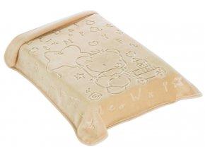 Španělská deka 521 - béžová, 80 x 90 cm