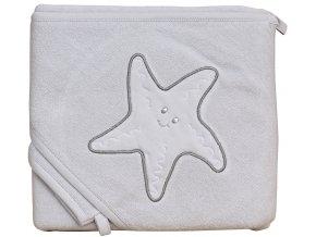 Froté ručník - Scarlett hvězda s kapucí - šedá