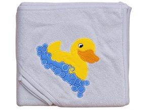 Froté ručník - Scarlett kačenka s kapucí - šedá