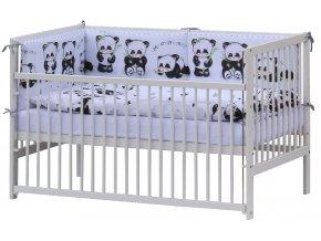 Postýlka 140 x 70 cm s kompletní výbavou Panda - bílá