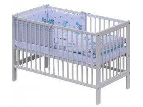 Postýlka 120 x 60 cm s kompletní výbavou Scarlett Pupis - modrá
