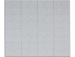 Skládací žíněnka Scarlett Puzzle  – mramor šedá, 180 x 180 x 2