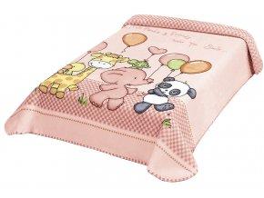 Španělská deka 636 - růžová, 80 x 110 cm