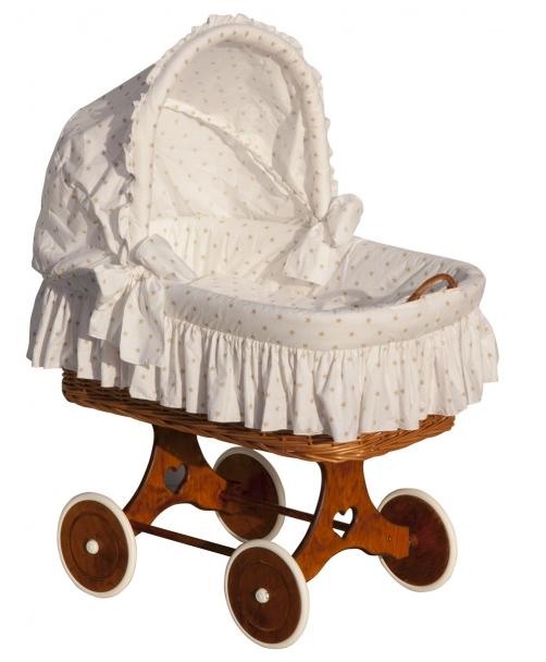 Boudička k proutěnému koši na miminko Scarlett Hvězdička béžová