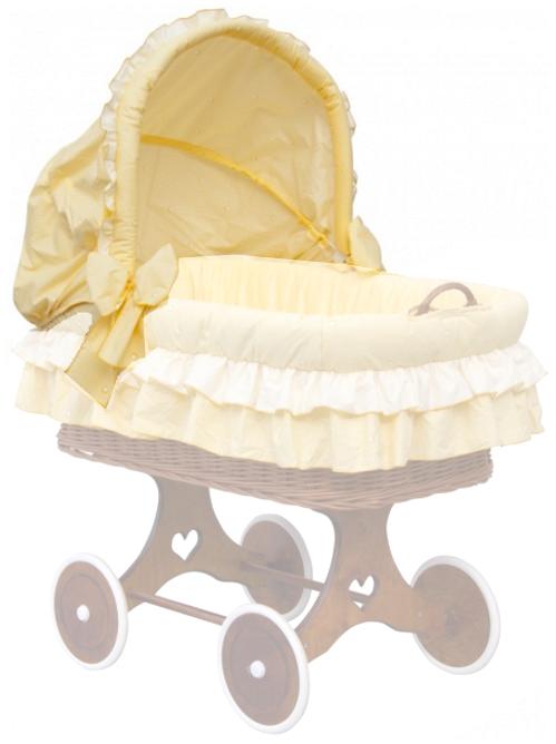 Scarlett, Boudička k proutěnému košíku - Scarlett Dráček - žlutá