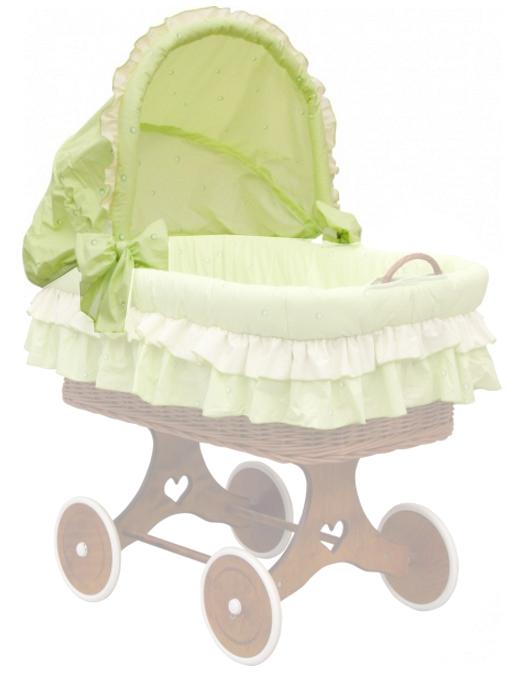 Scarlett, Boudička k proutěnému košíku - Scarlett Dráček - zelená