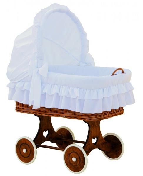 Boudička k proutěnému koši na miminko Scarlett Martin bílá