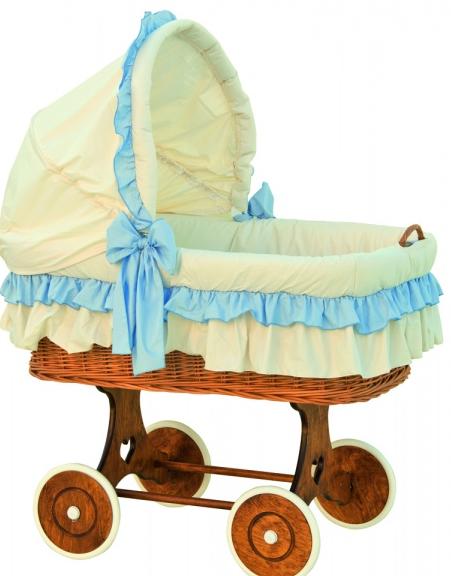 Boudička k proutěnému koši na miminko Scarlett Martin modrá