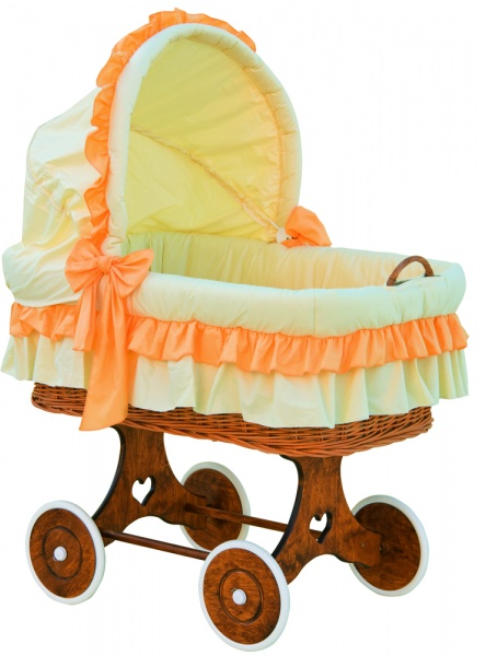 Boudička k proutěnému koši na miminko Scarlett Martin oranžová