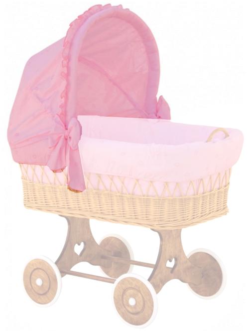 Scarlett, Boudička k proutěnému košíku - Scarlett Méďa - růžová