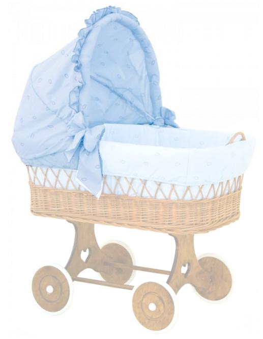 Scarlett, Boudička k proutěnému košíku - Scarlett Méďa - modrá