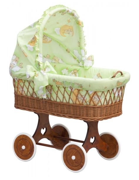 Boudička k proutěnému koši na miminko Scarlett Mráček zelená