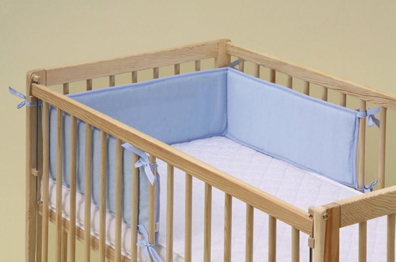 Scarlett, Mantinel do dětské postýlky - Scarlett froté - 180 x 20 cm - modrá