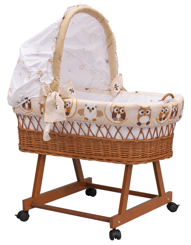 Proutěný koš pro miminko s boudičkou SOVIČKA