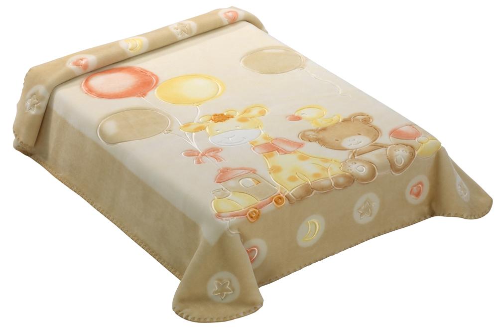 Dětská španělská deka - 546 - 80 x110 cm béžová  Scarlett