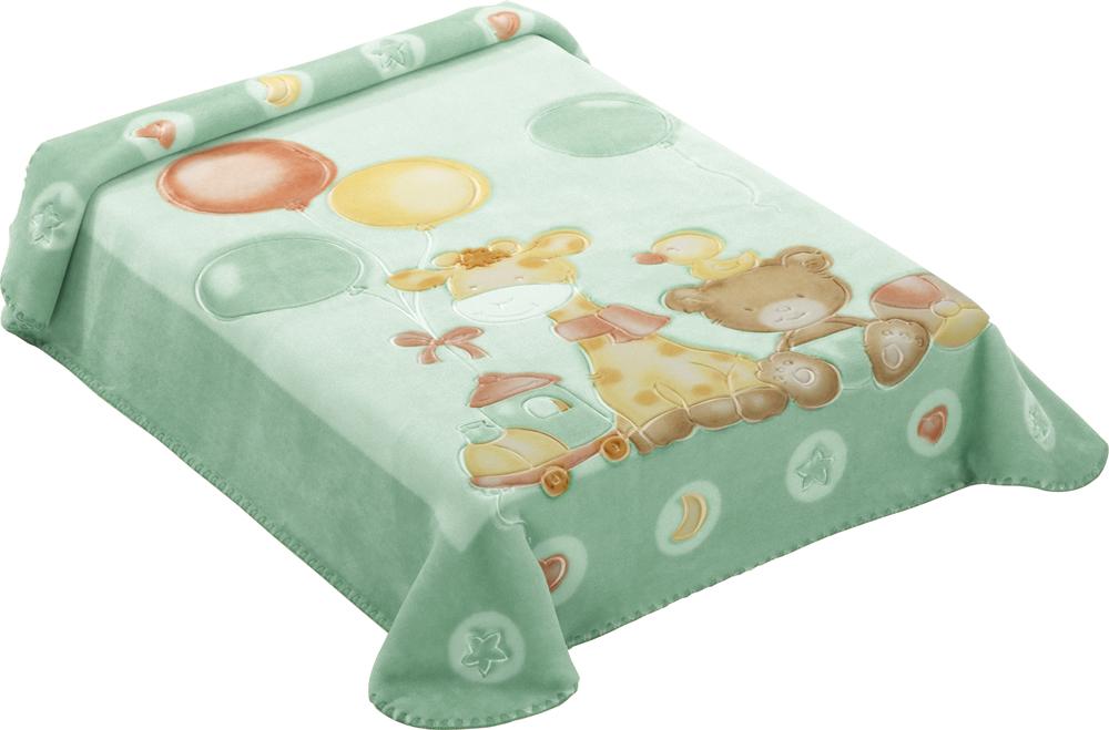 Dětská španělská deka - 546 - 80 x110 cm zelená  Scarlett