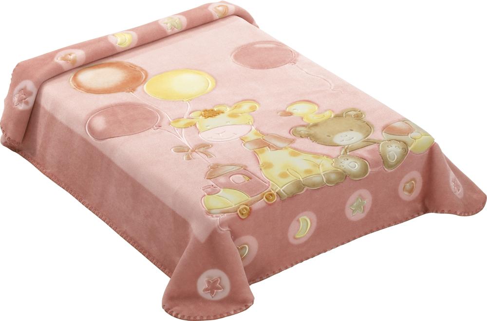 Dětská španělská deka - 546 - 80 x110 cm růžová  Scarlett