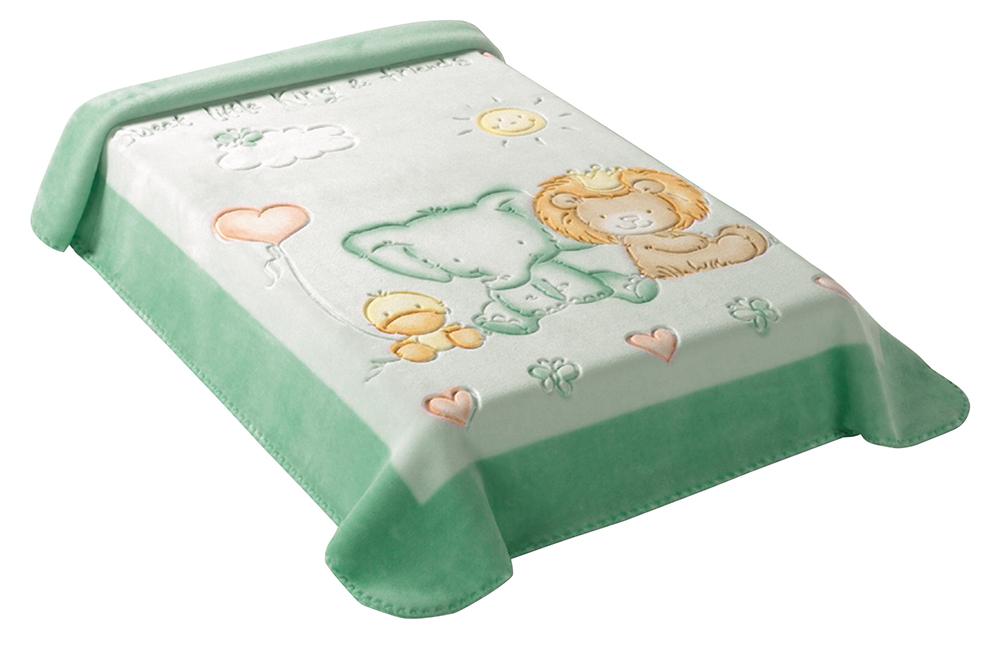 Scarlett, Španělská deka 547 - zelená, 80 x 110 cm
