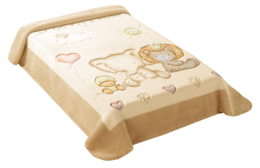 Dětská španělská deka - 547 - 80 x110 cm béžová  Scarlett