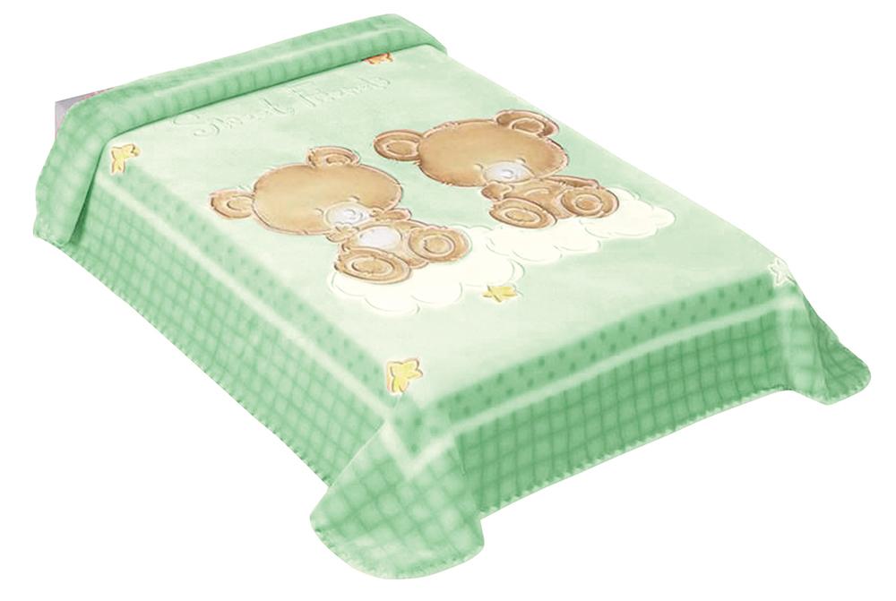 Dětská španělská deka - 548 - 80 x110 cm zelená  Scarlett