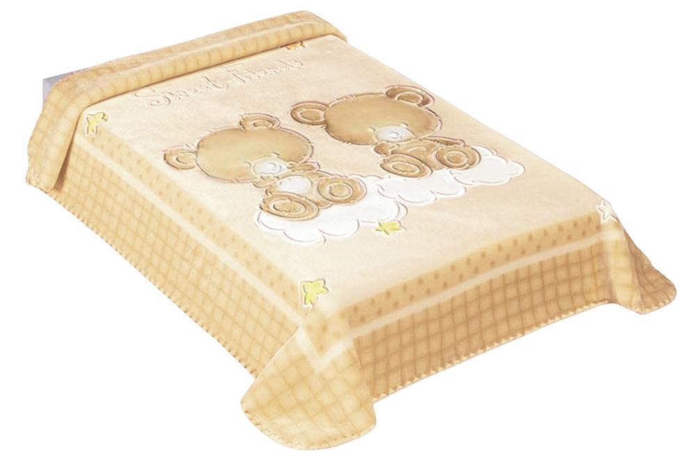 Dětská španělská deka - 548 - 80 x110 cm béžová  Scarlett