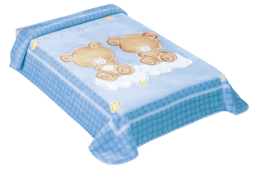 Scarlett, Španělská deka 548 - modrá, 80 x 110 cm