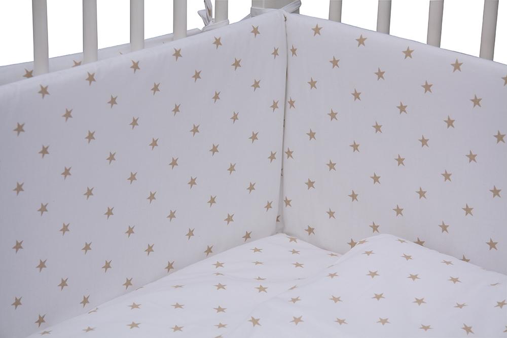 Scarlett, Dětské povlečení 6dílné - Scarlett Hvězdička - béžová 100 x 135 cm
