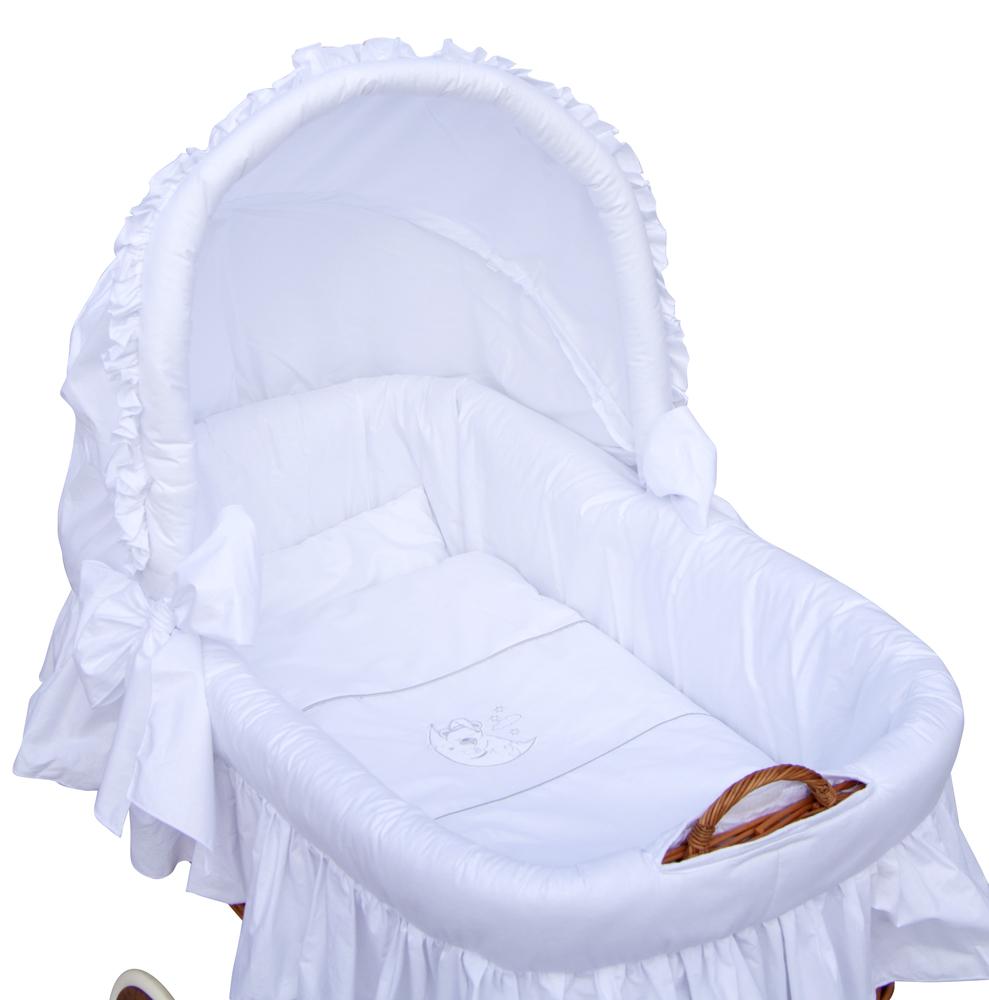 Scarlett, Proutěný koš na miminko s boudičkou Scarlett Péťa - bílá