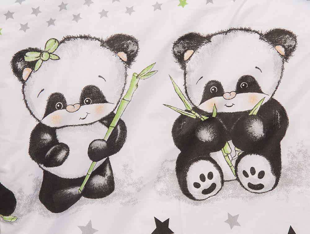 Scarlett, Dětské povlečení 2dílné Scarlett Panda - bílá 100 x 135 cm