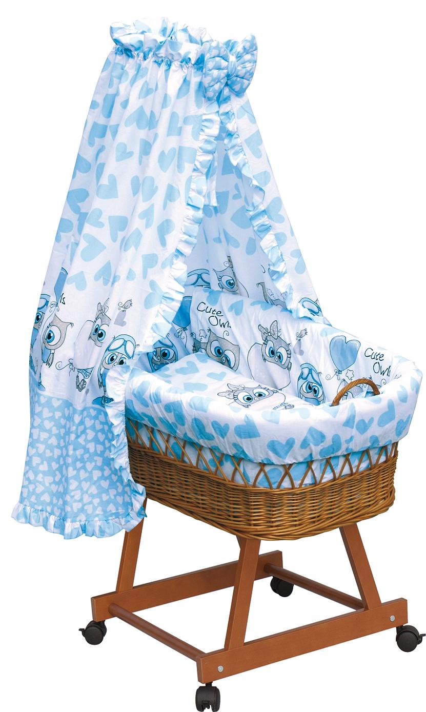Proutěný košík na miminko s nebesy Scarlett Kulíšek - modrá