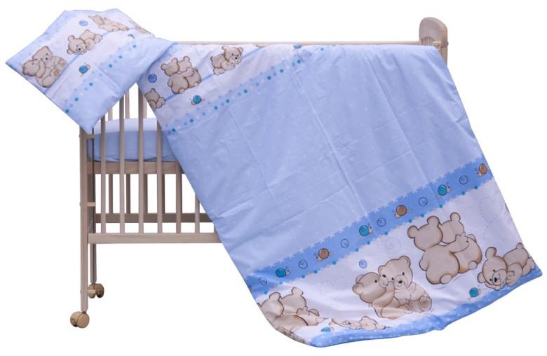 Povlečení do postýlky 2dílné - Scarlett Matěj -  modrá 100 x  135 cm