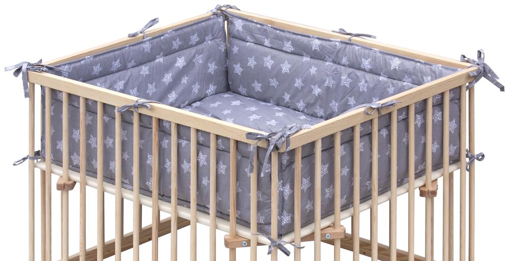 Matrace do dětské ohrádky Honzík Scarlett Hvězdička - šedá, 98 x 78 cm