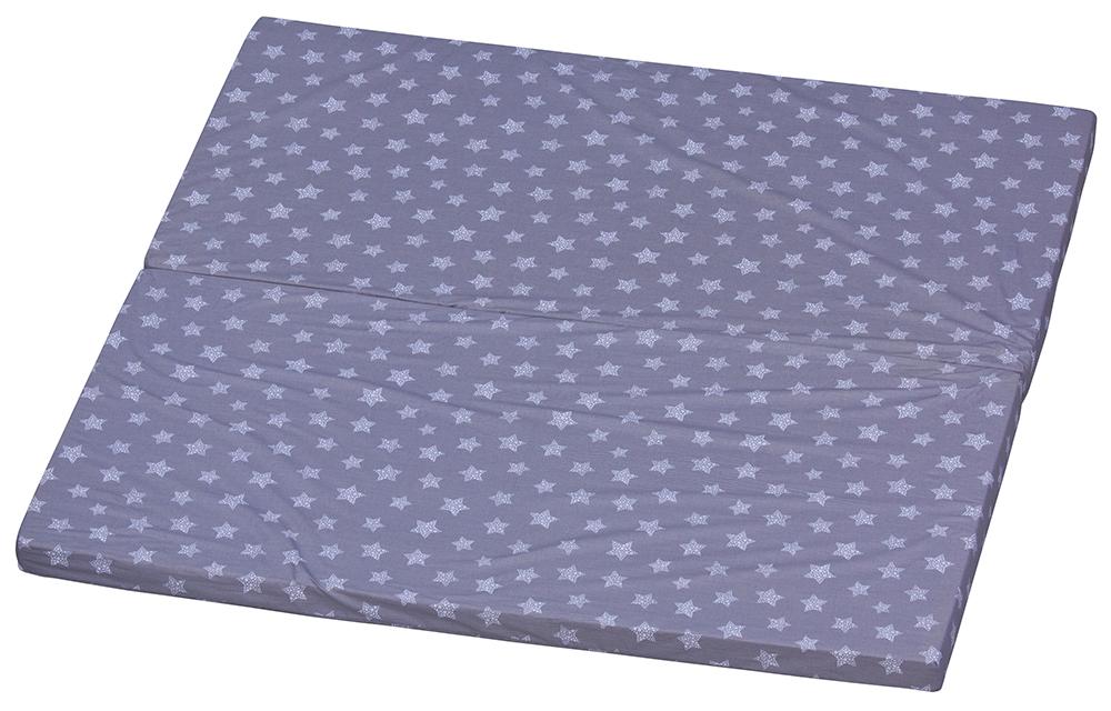 Matrace do ohrádky Luna Scarlett Hvězdička - šedá, 150 x 150 cm