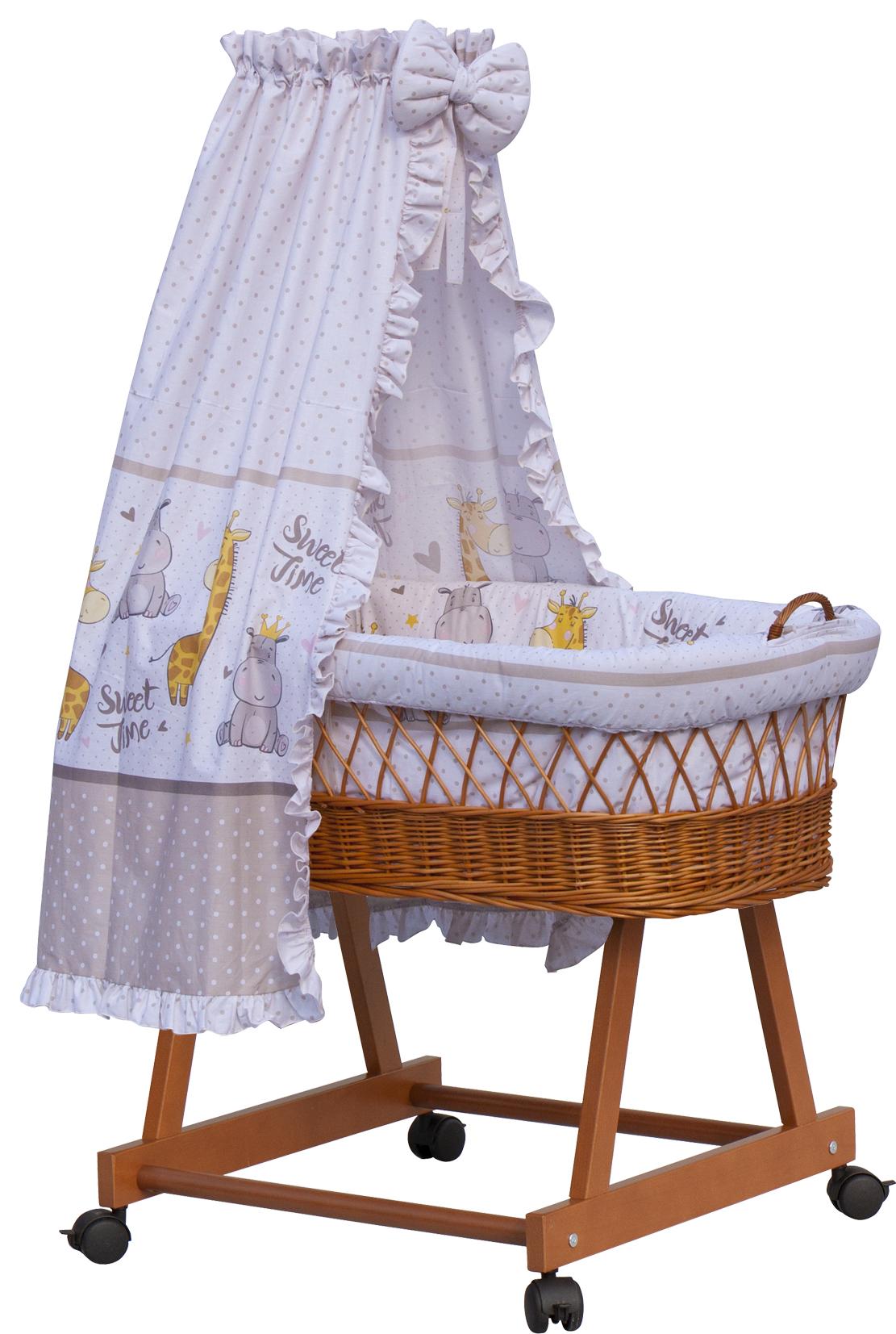 Proutěný košík na miminko s nebesy Scarlett Nebula - béžová