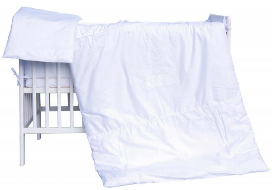 Scarlett, Dětské povlečení 2dílné - Scarlett Měsíček - bílá 100 x 135 cm