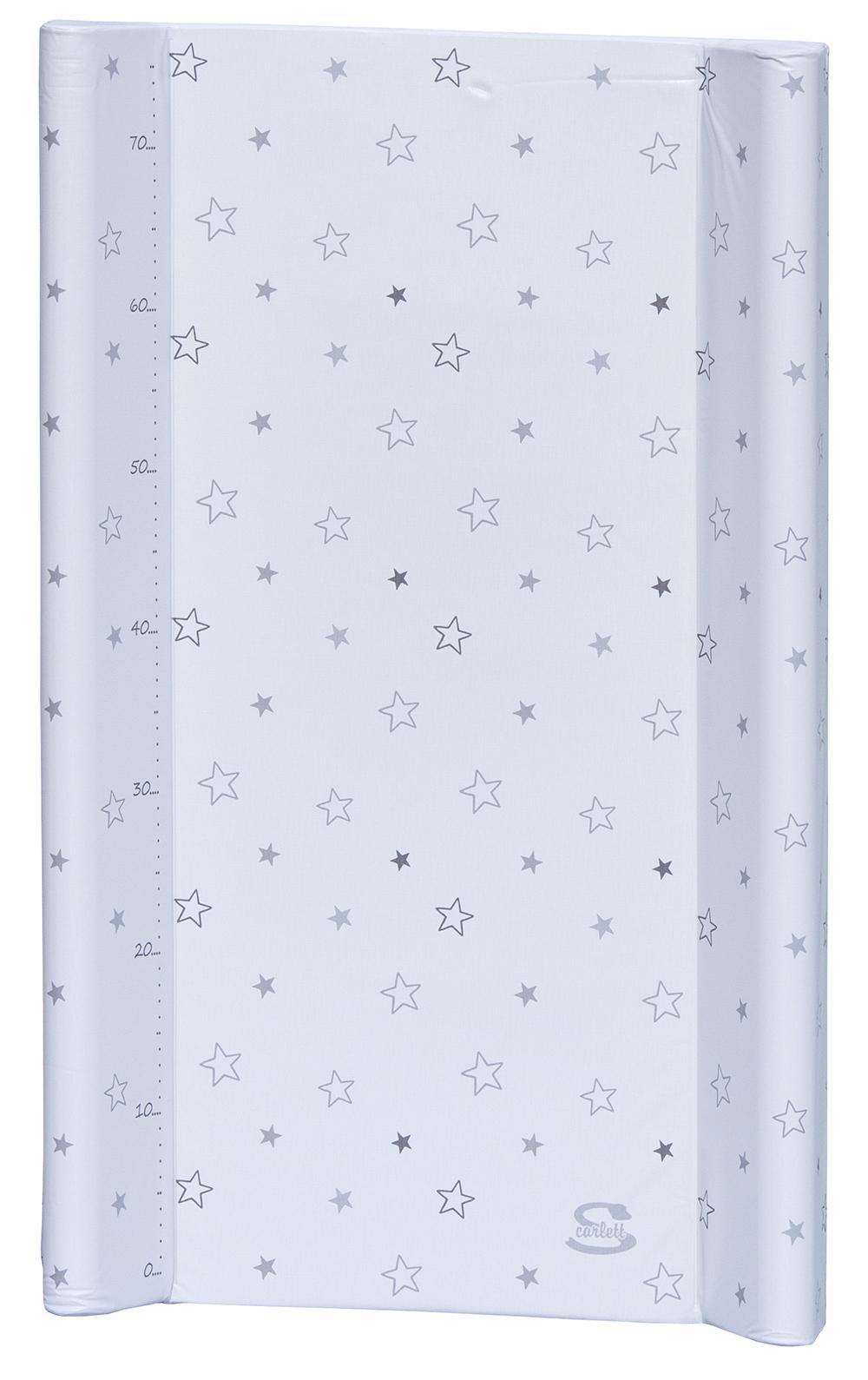 Scarlett, Přebalovací podložka s pevnou vložkou Scarlett Hvězdička 80 x 50 cm - bílá