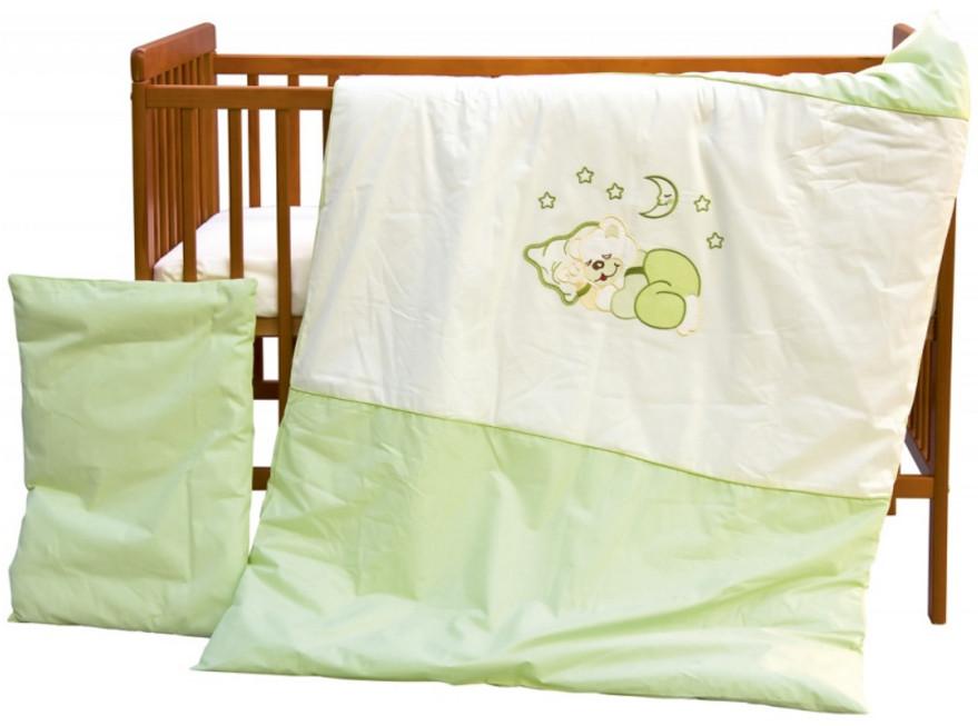 Scarlett, Dětské povlečení 2dílné - Scarlett Měsíček - zelená 100 x 135 cm