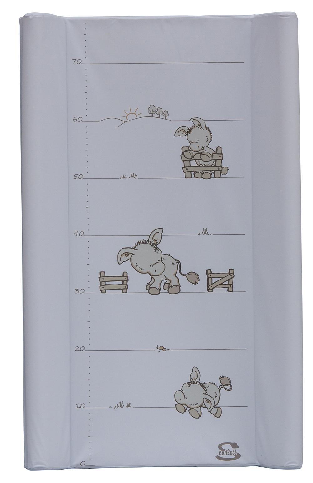 Přebalovací podložka s kapsou Scarlett Oslík 80 x 50 cm - bílá